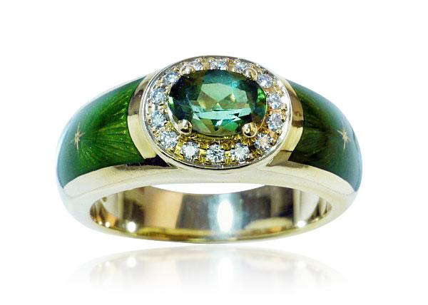 Smaragd schmuck  Smaragdring antik mit 1,075ct Diamantrosen und 2,108ct Smaragd ...