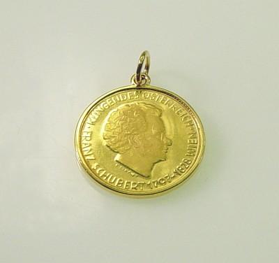 Anhänger Gold 18 Kt Mit Gold Münze 900 Gold Franz Schubert